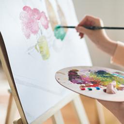 Art graphique, peinture, dessin, pinceaux