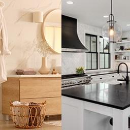 Cuisine et salle de bains