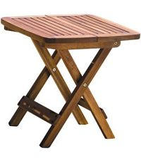 Table carrée pliante 100% bois d'acacia finition huilée