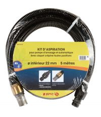 Kit d'aspiration laiton 5m D22 - SPID'O