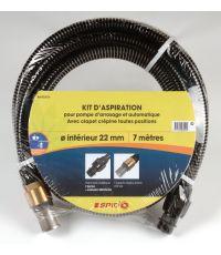 kit d'aspiration laiton 7m D22
