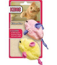 Souris en peluche pour chaton x2 Mice - KONG