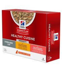 Cuisine mijoté poulet/saumon pour chat stérilisé 8x80g -HILL S PET NUTRITION