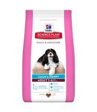Hill's science plan adult calm & happy small & miniature 1,5kg pour chien