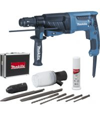 Perforateur-burineur SDS-PLUS 800W 26mm (coffret alu + accessoires) - MAKITA