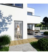Moustiquaire rideau porte Basic 100x220cm blanc - WINDHAGER