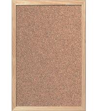 Tableau d'affichage liège cadre bois 900 mm x 600 mm x 15 mm - DECOSA