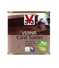 Vernis intérieur ciré satin 0.5L - Chêne doré - V33