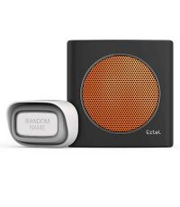 Carillon sans fil 200m - diBi Flash Soft Black & Orange - EXTEL