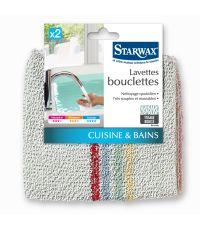 Lavettes bouclettes pour cuisine et salle de bains lot de 2 - STARWAX