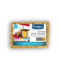eponge gros travaux brune - STARWAX
