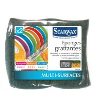 Eponges grattantes lot de 2 - STARWAX
