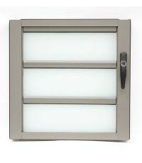Fenêtre à jalousie l. 600 x H. 600 mm