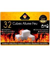 Allume feu 32 cubes blancs qualité premium base parafine