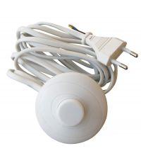 cordon + interrupteur pédale blanc - TIBELEC