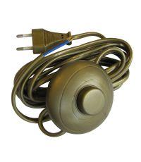 Cordon + interrupteur pédale or - TIBELEC