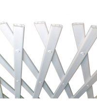 Treillis extensible PVC Blanc 1x3m Trelliflex - INTERMAS