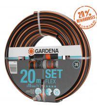 Kit tuyau arrosage Comfort Flex 20m Ø15mm équipé - GARDENA