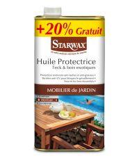 Huile protectrice teck et bois exotiques 1L + 20% gratuit - STARWAX
