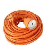 Rallonge de jardin orange  HO5VVF 2x1,5mm - 25m - ZENITECH