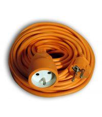 Rallonge électrique de jardin orange 3G1.5 - 50 m - ZENITECH