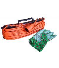 Prolongateur 25 m + range câble + gants - ZENITECH