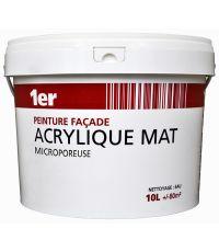 Peinture façade acrylique 10L- blanc - 1ER