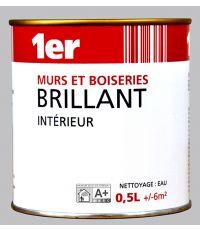 Murs et Boiseries Brillant - Blanc - 0,5L - MR BRICOLAGE