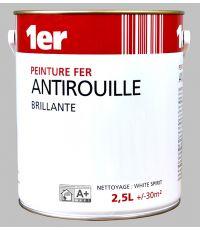 Peinture fer - Blanc - 2,5L - MR BRICOLAGE