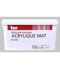 Peinture plafond acrylique blanc mat - 2.5L - MR BRICOLAGE