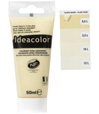 Colorant universel pour peinture blanc ivoire 50ml - IDEACOLOR