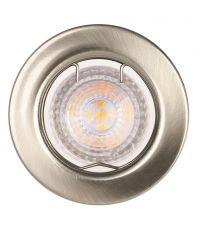 Spots à encastrer (x3) LED FIXE - 4,6W - nickel brossé