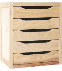 Bloc 5 tiroirs pin massif 45.8x39x30 - SERVARY