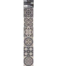 Déco carrelage adhésive carreaux de ciment gris 15x15cm - PLAGE