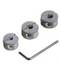 3 Butées de profondeur ø 6, 8, 10 mm pour forets à chevilles - WOLFCRAFT
