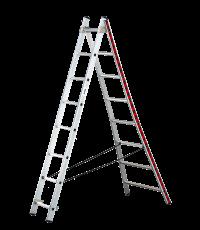 Echelle transformable base évasée 2x8 - 2m28/3m68 - Inventiv