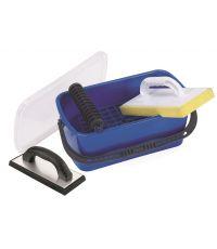 Kit pour joint de carrelage avec bac 10 litres et frottoir - PRCI