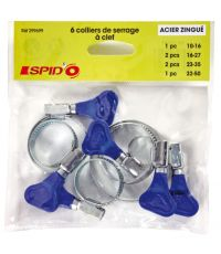 6 colliers de serrage à clef SPIDO