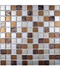 Mosaïque nuance marron - 30 x 30 cm
