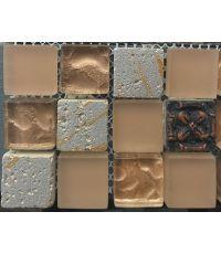 Mosaïque reine des sables - 30 x 30 cm