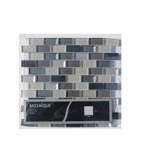 Mosaïque briquette roche noire - 30 x 30 cm