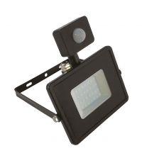 Projecteur LED noir 50 W à détecteur de mouvement
