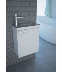Meuble SDB - Lave main - Gris -KINDFORD