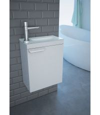 Meuble SDB - Lave main - Blanc  - KINDFORD