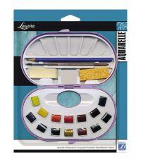 Boîte plastique de 14 demi-godets et accessoires - LEFRANC BOURGEOIS
