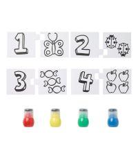 Kit Spoty 4 x 30 ml + 8 pièces puzzle chiffres - LEFRANC BOURGEOIS