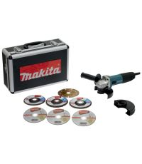 Meuleuse GA5030RSP6  Ø125 mm 720W + Coffret  7 disques - MAKITA
