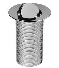 Bonde design chromé 100 mm,  pour vasque sans trop-plein - INVENTIV