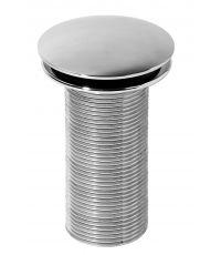 Bonde design en laiton chromé 100 mm,  pour vasque sans trop-plein - INVENTIV