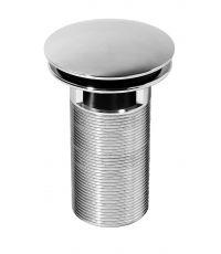 Bonde design en laiton chromé 100 mm,  pour vasque avec trop-plein - INVENTIV